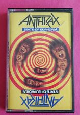 ANTHRAX STATE OF EUPHORIA CASSETTE TAPE ISLAND MEGAFORCE 1988