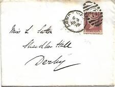 GB QV 1879 COVER PENNY RED PL210 'FD' FROM LONDON TO DERBY 09TH AUGUST 1879