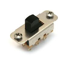 (1) Genuine Fender Black ON-ON Slide Switch for Jaguar Guitar 001-7079-049