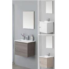 Mobile 50cm sospeso modello moderno con un anta e lavabo in 3 colori|mobili|078