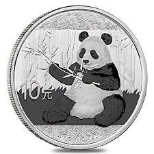 2017 China 30 Gram .999 Fine Silver Panda Coin 10 Yuan Face Value Mint Condition
