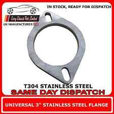 "3"" inch / 76mm Bore T304 Stainless Steel Exhaust Flange Repair 8mm Thick"
