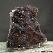 """5""""Marvelous Uruguay Rosette Violet Green Amethyst Crystal Reiki Cluster Ame136"""