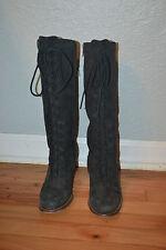 Women UGG Tall High Heel Leather Zip Up Boot Sz 8 F8007F S/N5488