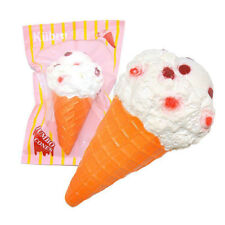 Soft Jumbo White Cone Color Squishy Slow Rising Scented Ice Cream Kids New Toy