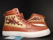 GOURMET NFN DICINOVE BOAT SHOE HONEY WHEAT BROWN WHITE LEATHER 000019311 NEW 13