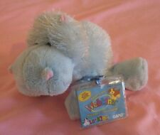 "Hippo Lil Kinz Webkinz Ganz Light Blue Animal Hs009 Nwt New 7"" Unused"