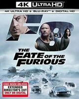 The Fate of the Furious F8 FAST 8 4K ULTRAHD BLURAY DIGITAL NEW W SLIPCOVER