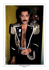 FREDDIE MERCURY QUEEN TOKYO 1985  A4 PRINT PHOTO  MUSIC GIFT FOR HIM