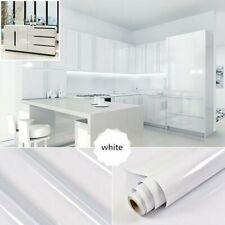 5M/10M Weiß Möbelfolie Hochglanz Glanz Folie Klebefolie Küchenfolie Schrankfolie