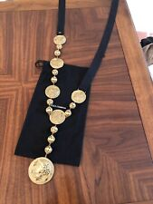 New Authentic Dolce&Gabbana Long Coin Gold Necklace Or Belt The Price 1,750