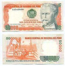 PERU NOTE 50000 SOLES DE ORO 02.11.1984 P 125 AXF