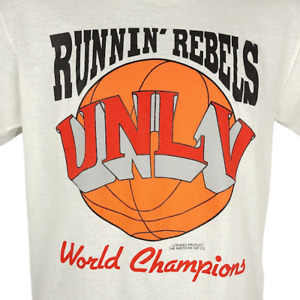 UNLV Runnin Rebels T Shirt Vintage 90s NCAA Basketball Made In USA Size Small