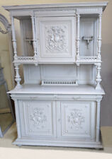 SUPERB PAINTED FRENCH ANTIQUE HENRI II STYLE GLAZED BUFFET / DRESSER C1890