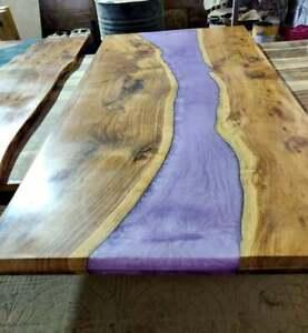 Natural Walnut Epoxy, Mappa Burl Wood slab Live edge Dining Decors Made To Order
