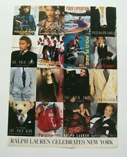 "Ralph Lauren Ad 1992 ""Celebrates New York""  Magazine/Print/Fashion"