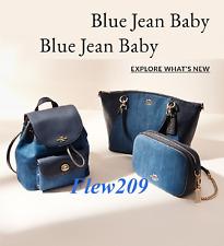 NWT Coach 24598 Mini Billie Denim Daze Backpack