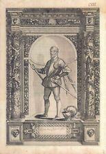 Jacobus Malatesta - Incisione originale G.B. Fontana, D. Custos 1600