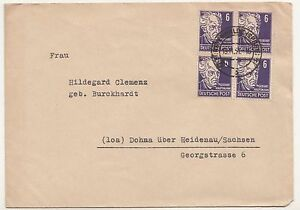 Lettre Fürstenwalde Spree Après Dohna En Heidenau 1951 Mi Nr 328 ! (B7