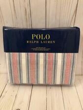 Ralph Lauren HENRY NAVY RED STRIPE 3 pc TWIN Sheet Set NWT FREE 2 DAY FEDEX