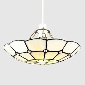 Vintage Tiffany Bistro Style Uplighter Ceiling Light Shade Pendant easy to fit