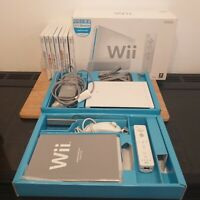 Nintendo Wii Console Bundle, Boxed With Seven Games, Controller And Nunchuck
