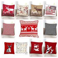 "Christmas Theme 100% Cotton cushion Covers,Festival Pillow Case,18x18""(45X45cm)"