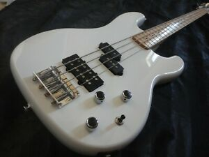 90's Kay State of the Art Precision P bass Dual Jazz pickups WHITE bass guitar
