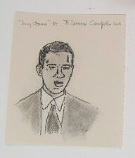 Young Barack Obama - Vintage 2007 signed Lithograph by WHO's WHO listed artist!