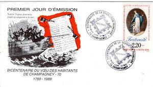2575++FDC  ENVELOPPE 1er JOUR 1989 BICENTENAIRE DE LA REVOLUTION FRANCAISE