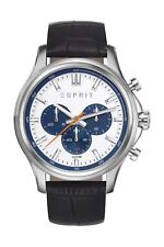 Esprit Herrenuhr MATHIAS BLACK Silber NEU! ES108251003