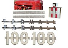 Complete Side & Front Emblem Kit IH Farmall 100 Tractor ~ McCormick Farmall