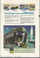1944 General Motors Diesel advertisement, US ARMY landing craft