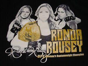 Rowdy Ronda Rousey UFC Shirt Size Medium Double Sided