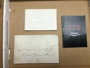 1962 Cadillac Used Owners manual set