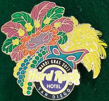 Hard Rock Hotel SAN DIEGO 2011 MARDI GRAS PIN Masks, Feathers & Beads HRC #58110