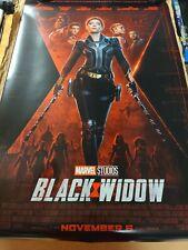 Black Widow Original 27x40 D/S Final Movie  Poster One Sheet in hand MARVEL
