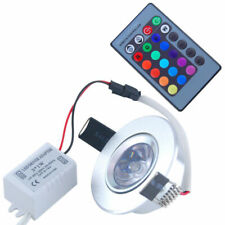 RGB 3W LED Recessed Ceiling Light Spotlight Downlight Lamp + IR Remote Control