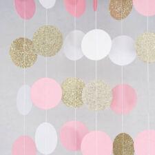 1PC 3M Paper Glitter Garland Bunting Banner Party Wedding Venue Decor Supplies