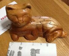 L@K Wooden Cat Art