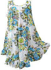 16 Colors Hippie Lagenlook Tunic Top Dress Boho Kaftan Size 18 20 22 24 26 28 30