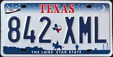 """TEXAS """" LONE STAR - COWBOY - SHUTTLE """" DISCONTINUED """" TX Graphic License Plate"""