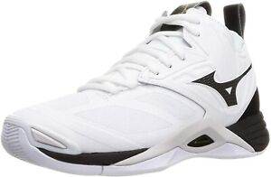 MIZUNO Volleyball Shoes WAVE MOMENTUM 2 MID V1GA2117 White Black US8(26cm) New