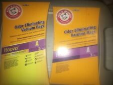2 Packs Hoover A Vacuum Cleaner Bags Arm & Hammer And Premium Allergen 6 Bags