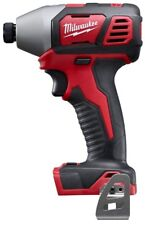 Cordless Impact Driver Tool 1/4 in Hex Brushed 18 V Li-Ion 2 Speed LED Light Red