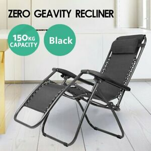 Garden Lounge Zero Gravity Portable Recliner Outdoor Sun Lounge Foldable Chair