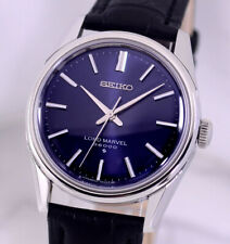 VINTAGE SEIKO LORD MARVEL 36000 BLUE DIAL DRESS MEN'S WATCH