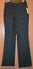 Womens Comfy Plaid Studio M Flat Front Joseette Pants Size Small NWT NEW $68