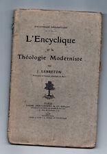 L'Encyclique et la Théologie Modeniste par J.Lebreton