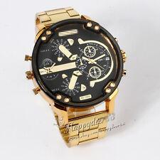 Deporte del cuarzo del reloj del acero inoxidable del oro Militar Hombres TRE